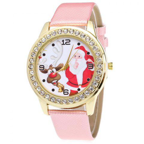 Shops Christmas Santa Deer Face Rhinestone Number Watch