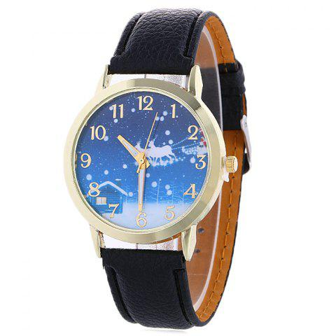 Online Christmas Night Deer Face Quartz Watch