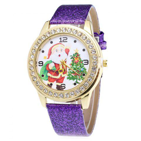 Best Glitter Strap Christmas Santa Tree Face Watch