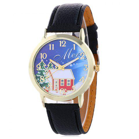 Affordable Christmas Tree House Face Quartz Watch