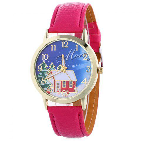 Buy Christmas Tree House Face Quartz Watch