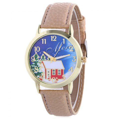 New Christmas Tree House Face Quartz Watch