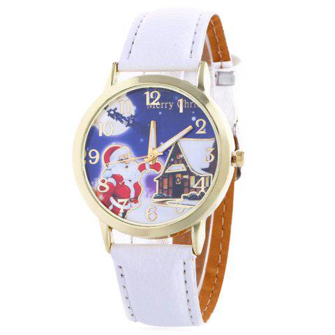 Sale Christmas Santa House Face Quartz Watch