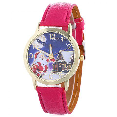 Fancy Christmas Santa House Face Quartz Watch