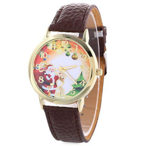 Store Christmas Santa Baubles Face Quartz Watch