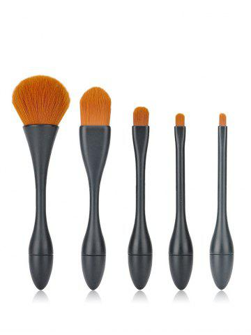 Cheap 5 Pieces Slim Waist Makeup Brush Set BLACK