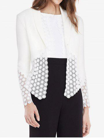 Affordable Laciness Office Blazer WHITE M
