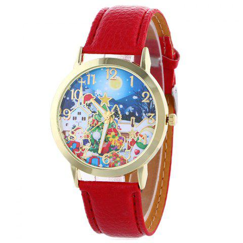 Store Christmas Night Tree Face Quartz Watch