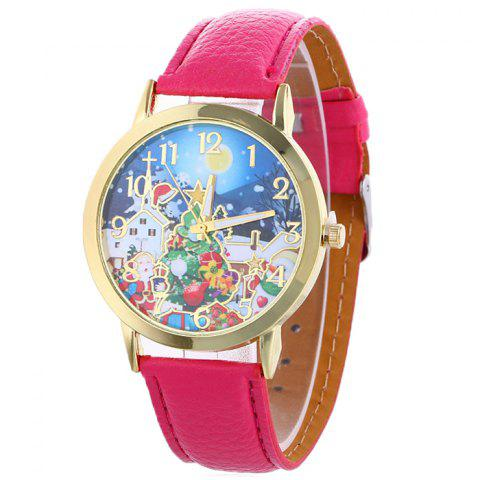 Latest Christmas Night Tree Face Quartz Watch