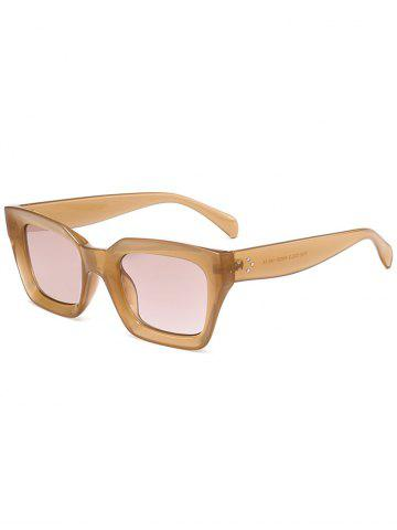 Shops Outdoor UV Protection Full Frame Square Sunglasses LIGHT COFFEE