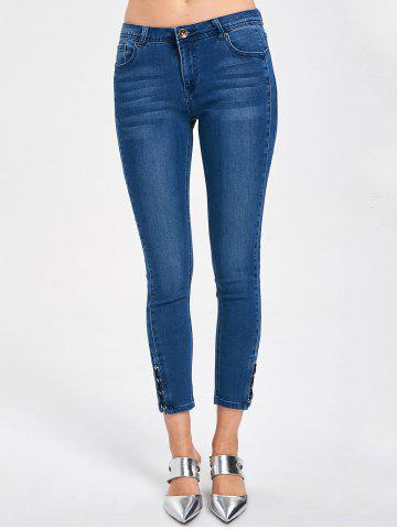 Outfit Lace Up Tight Ninth Length Jeans