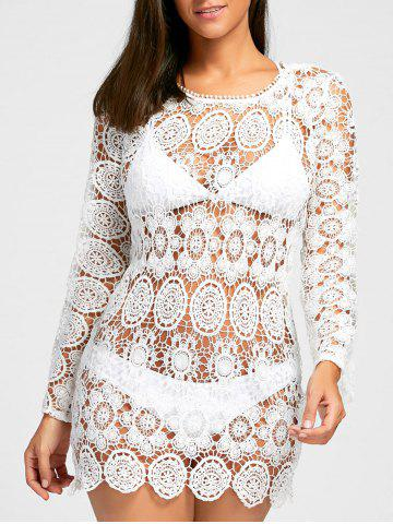 Latest Boho Crochet Cover Up Dress