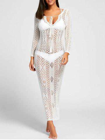 Plunge Boho Cover Up Dress