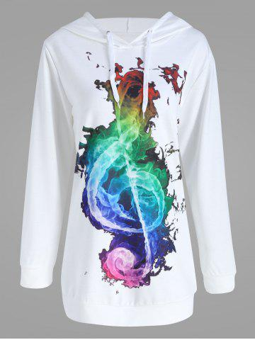 Store Plus Size Colorful Musical Note Graphic Hoodie