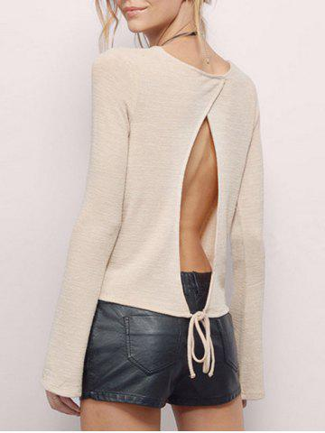 Split Backless T Shirt