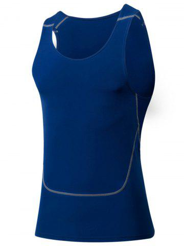 Affordable Suture Crew Neck Stretchy Fitness Vest