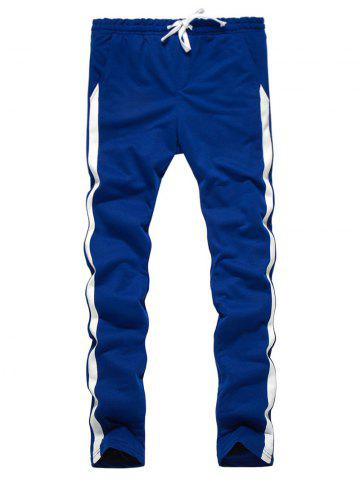 Side Stripe Design Drawstring Sweatpants