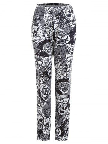 Latest Plus Size Halloween Skulls Printed Pants
