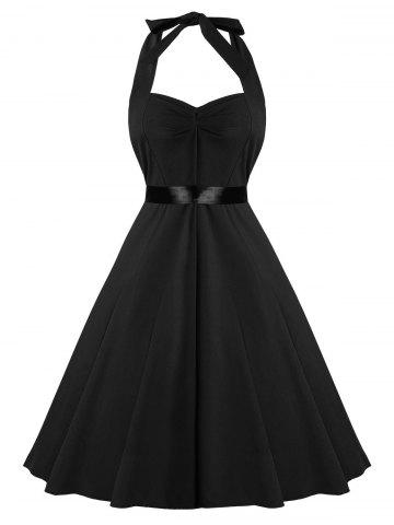 Vintage Fit and Flare Halter Dress