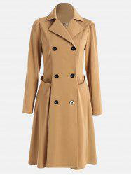 Double Breast Lapel Shift Trench Coat -