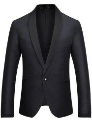 Casual One Button Shawl Collar Tuxedo Blazer -