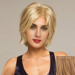Short Side Parting Shaggy Straight Lace Front Hair Hair Wig - 27/30# Blonde avec Puce