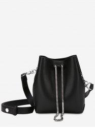 Faux Leather 2 Pieces Crossbody Set -