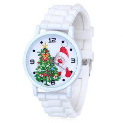 Christmas Tree Santa Face Silicone Strap Watch -