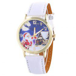 Christmas Santa House Face Quartz Watch -