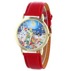 Christmas Night Tree Face Quartz Watch -