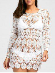 Boho Crochet Cover Up Dress -