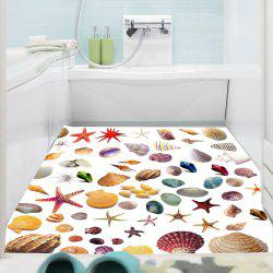 Removable Starfish Shell Pattern Floor Sticker -