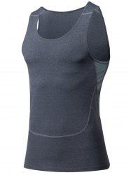 Suture Ras Du Cou Stretchy Fitness Vest -