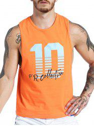 Number Graphic Print Tank Top -