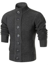Ribbed Knit Button Up Sweater Cardigan -