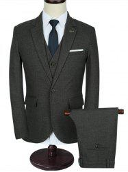 Slim Fit Classic Three-piece Business Suit -