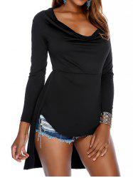 High Low Cowl Neck Top -