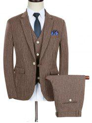 Slim Fit Stripe Lapel Casual Business Suit -