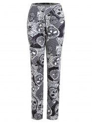 Plus Size Halloween Skulls Printed Pants -