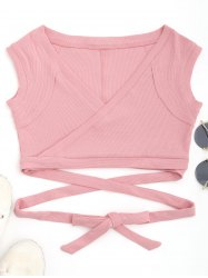 Ribbed Wrap Top -
