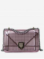 Chain Geometric Quilted Crossbody Bag -