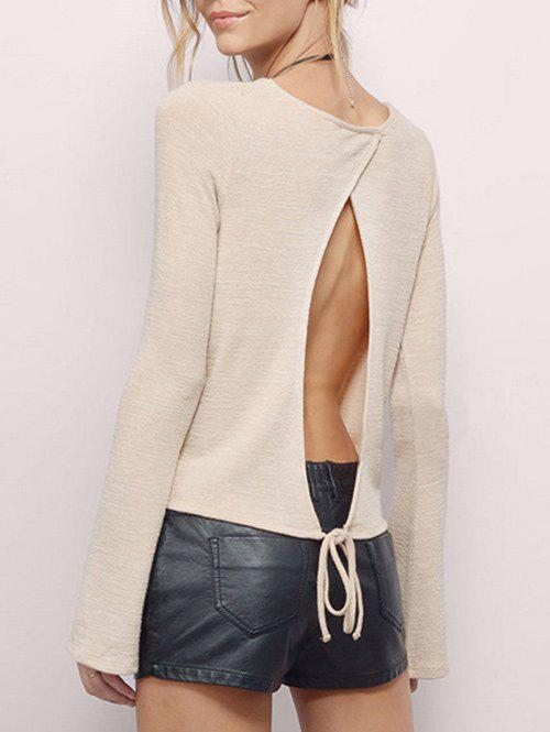 Outfit Split Backless T Shirt