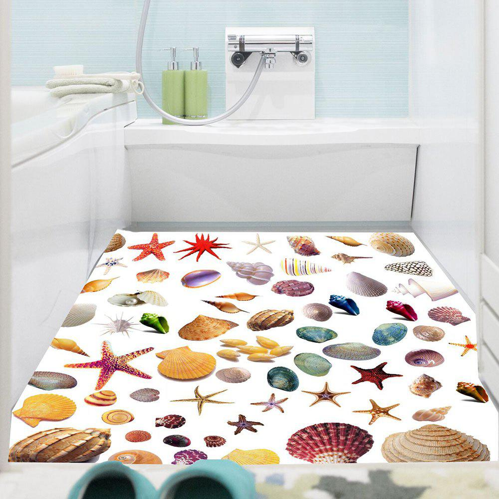 Outfit Removable Starfish Shell Pattern Floor Sticker