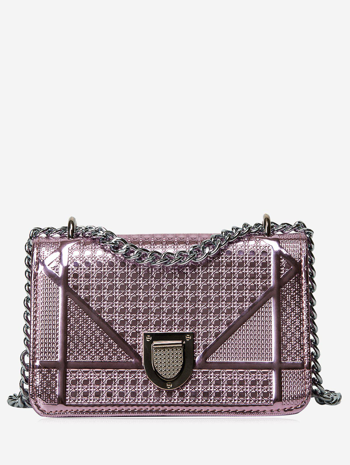 Affordable Chain Geometric Quilted Crossbody Bag