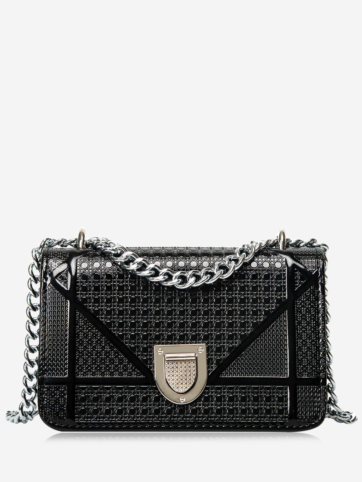 Shop Chain Geometric Quilted Crossbody Bag