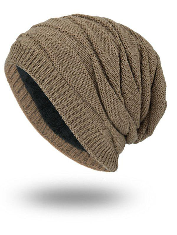Fancy Soft Stacking Stripe Baggy Knitted Beanie