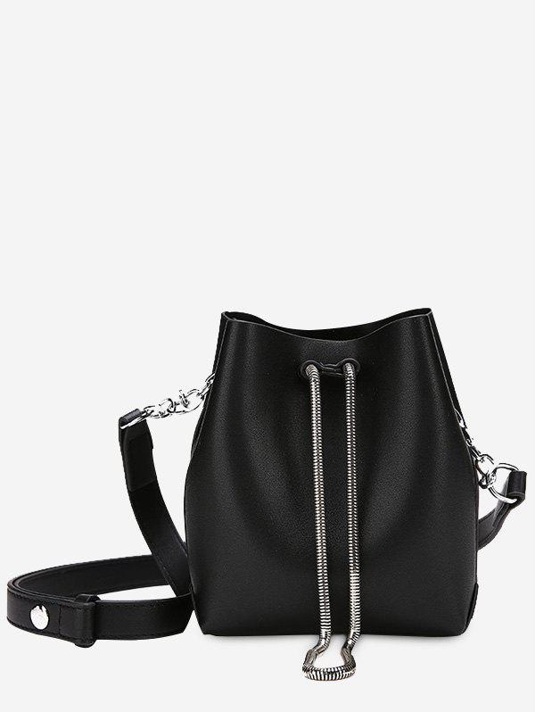 Fashion Faux Leather 2 Pieces Crossbody Set