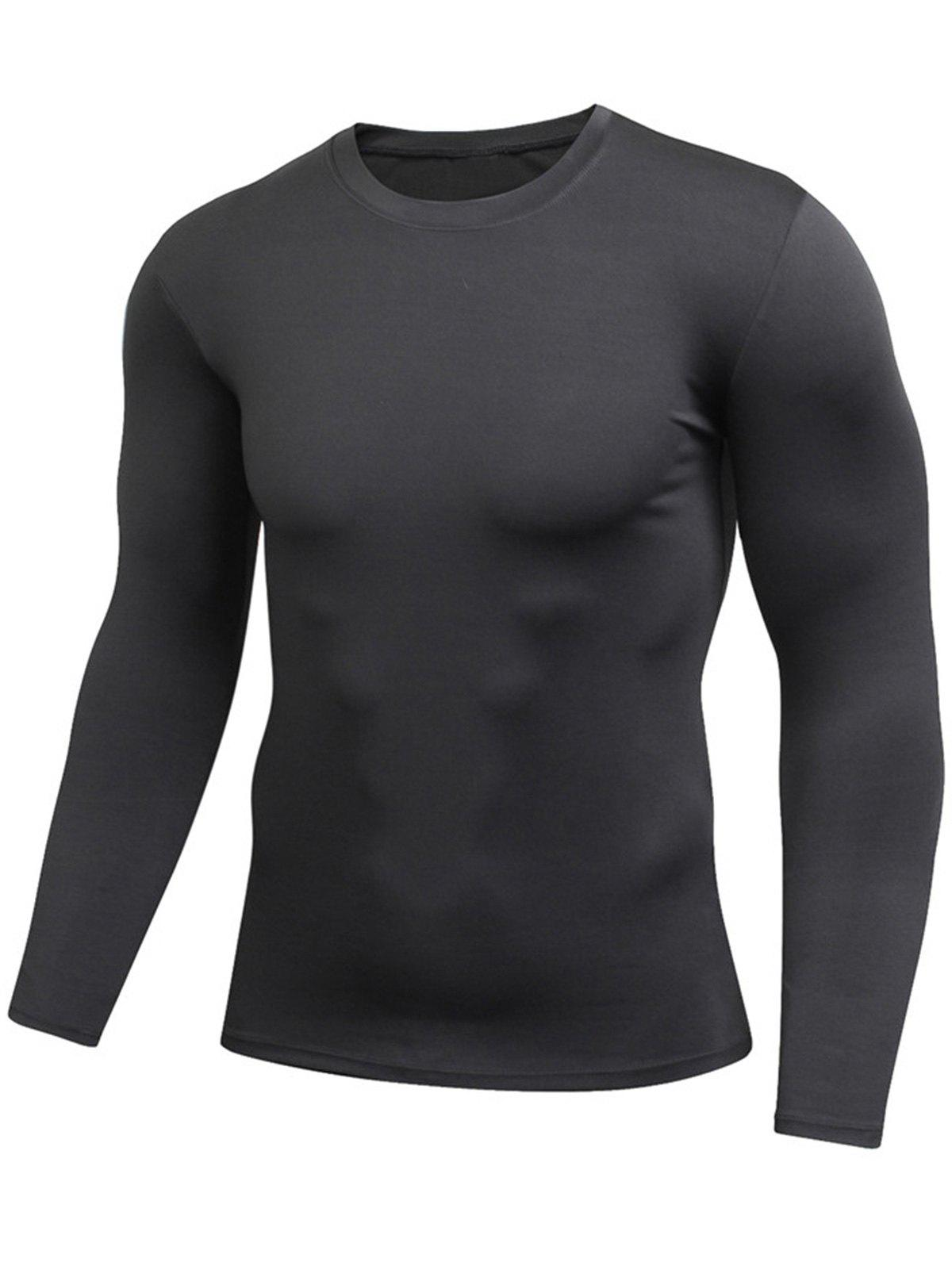 Outfit Quick Dry Fitted Gym Long Sleeve T-shirt