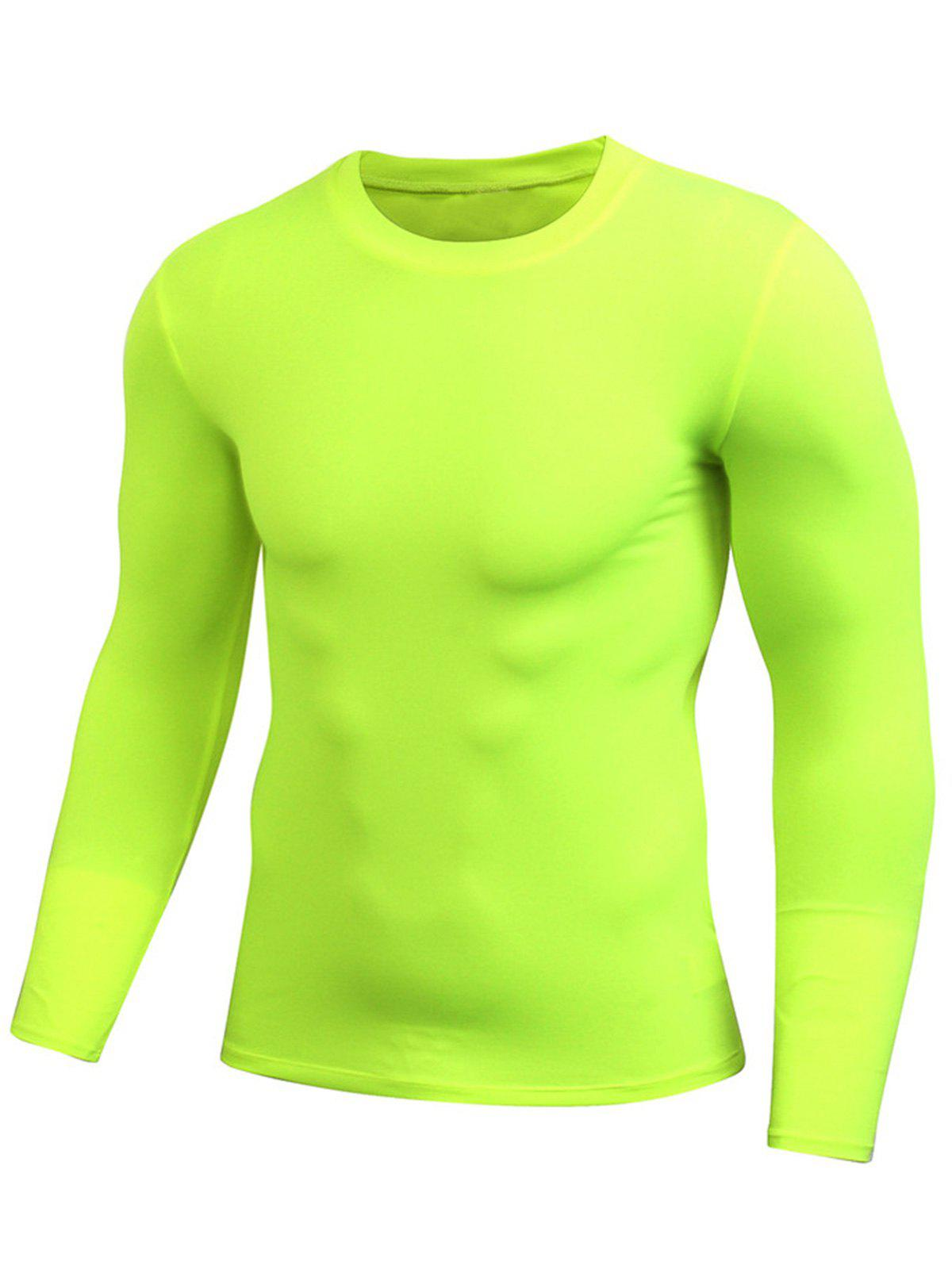 Discount Quick Dry Fitted Gym Long Sleeve T-shirt