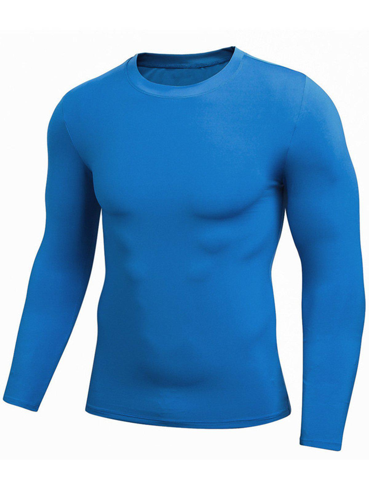 Cheap Quick Dry Fitted Gym Long Sleeve T-shirt